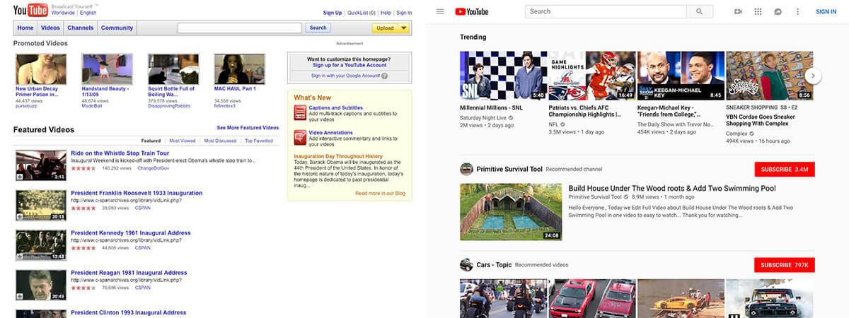 10 year challenge - Kako su izgledale najpopularnije web stranice prije 10 godina?