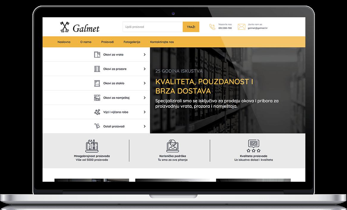 Galmet Web development
