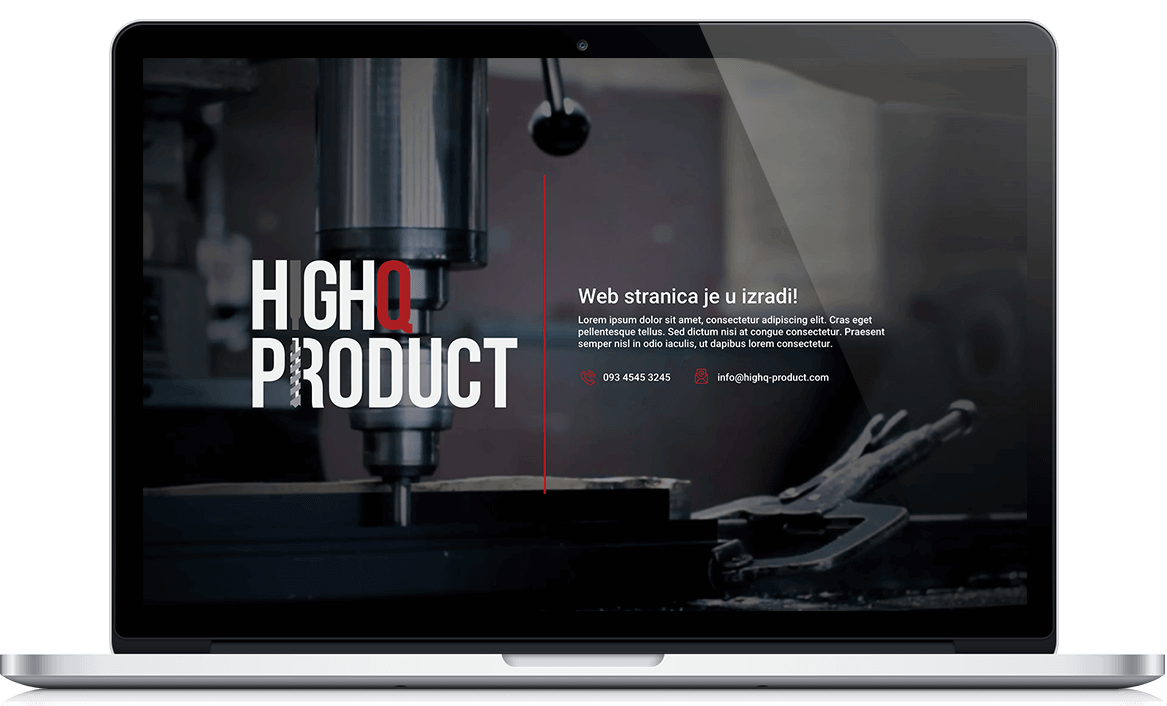 HighQ Product Web development