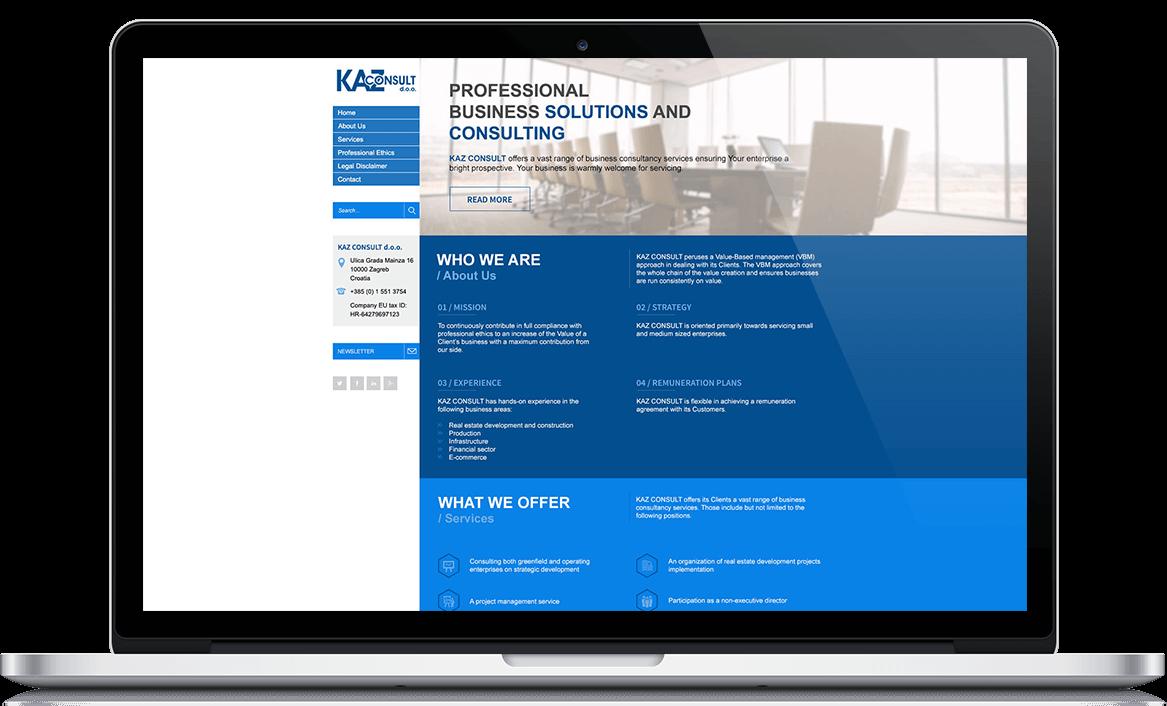 KAZ Consult Web dizajn