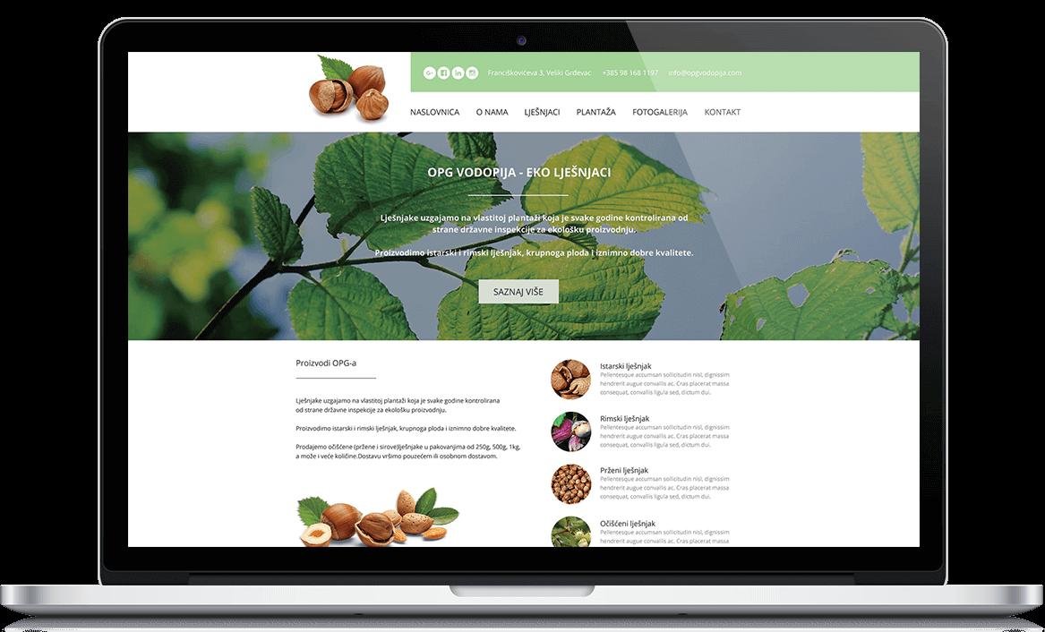 OPG Vodopija web design