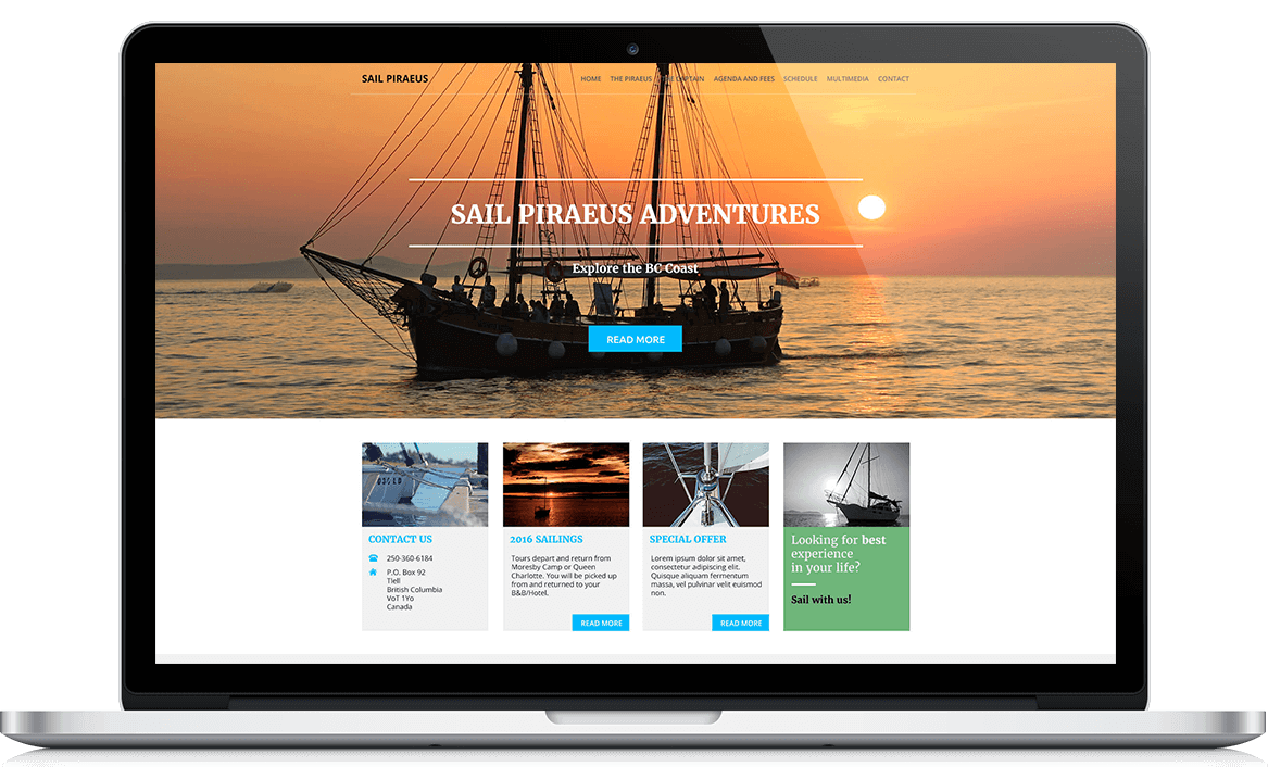 Sail Piraeus Website development
