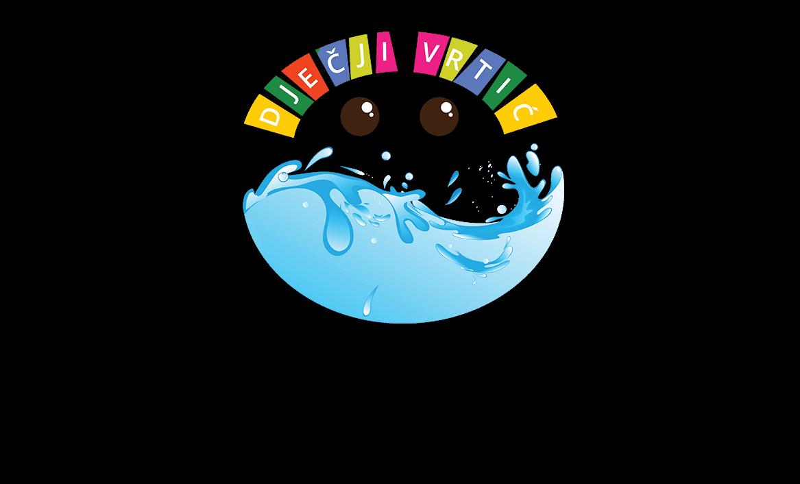 Dječji vrtić Slatki potok Logo dizajn
