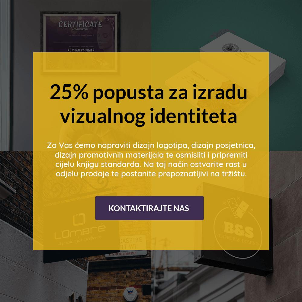 25% popusta na izradu vizualnog identiteta