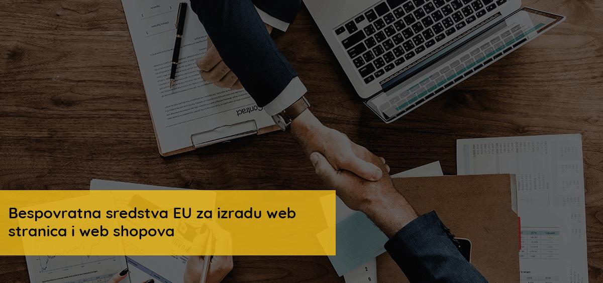 Bespovratna sredstva EU za izradu web stranica i web shopova