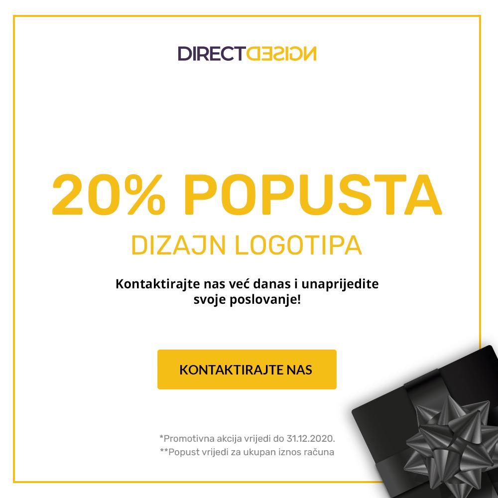 20% popusta na dizajn logotipa