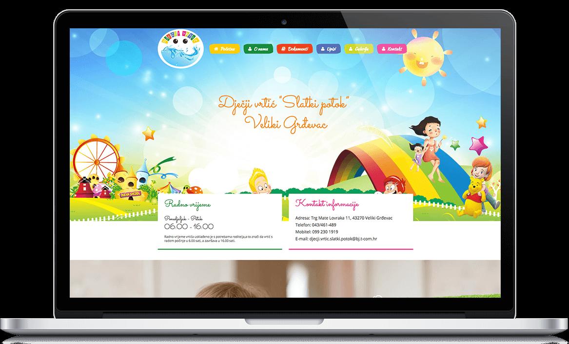 Dječji vrtić Slatki Potok Web development