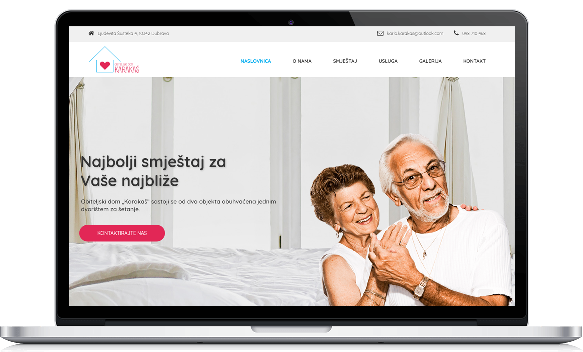Dom Karakaš Izrada web stranice