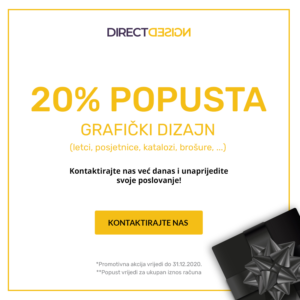 20% popusta na usluge grafičkog dizajna