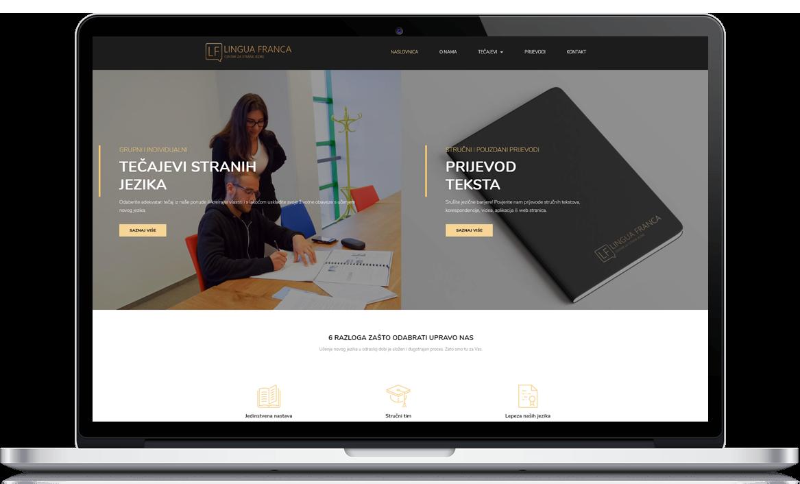 Lingua Franca Izrada web stranice