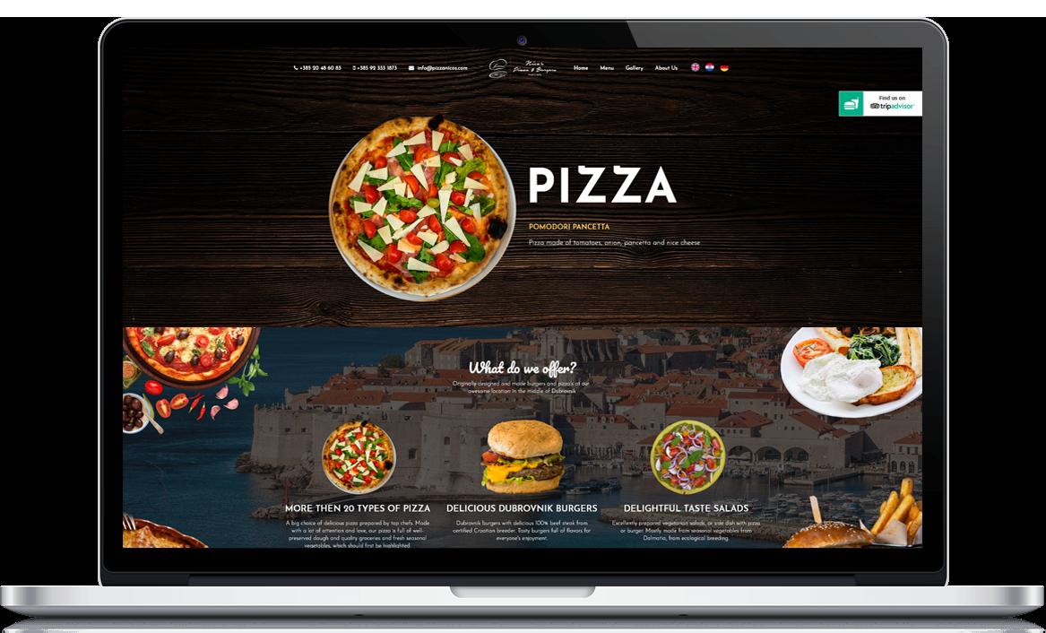 Nico's Pizza and Burgers Izrada web stranice