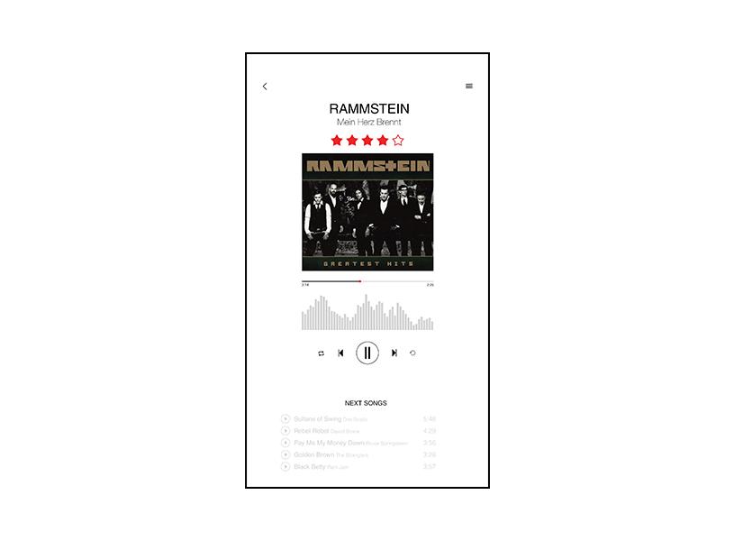 Music player App design   Flyer design   Web Shop   Visual identity