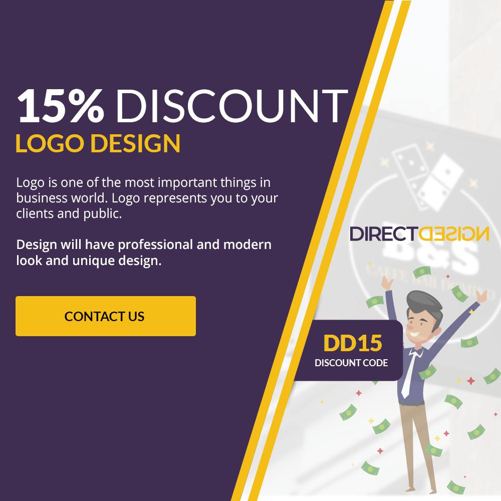 15% DISCOUNT FOR LOGO DESIGN
