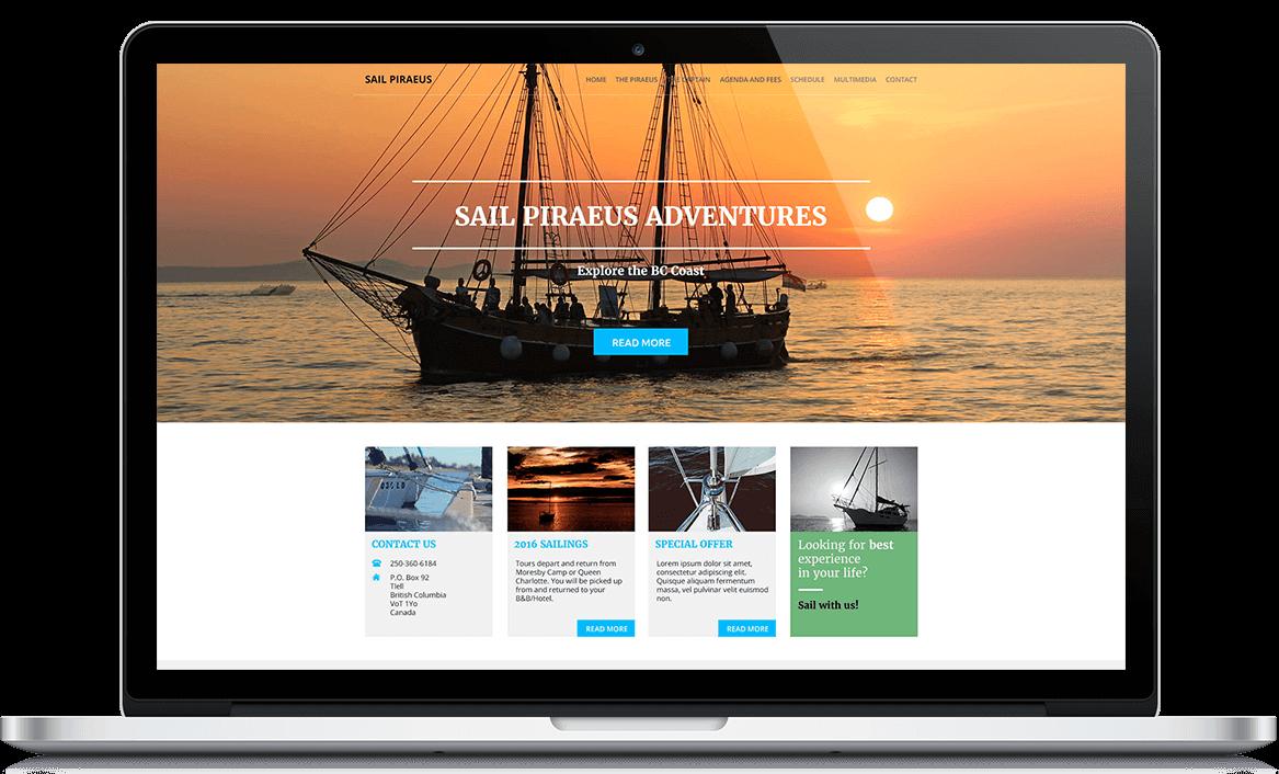 Sail Piraeus Web stranica