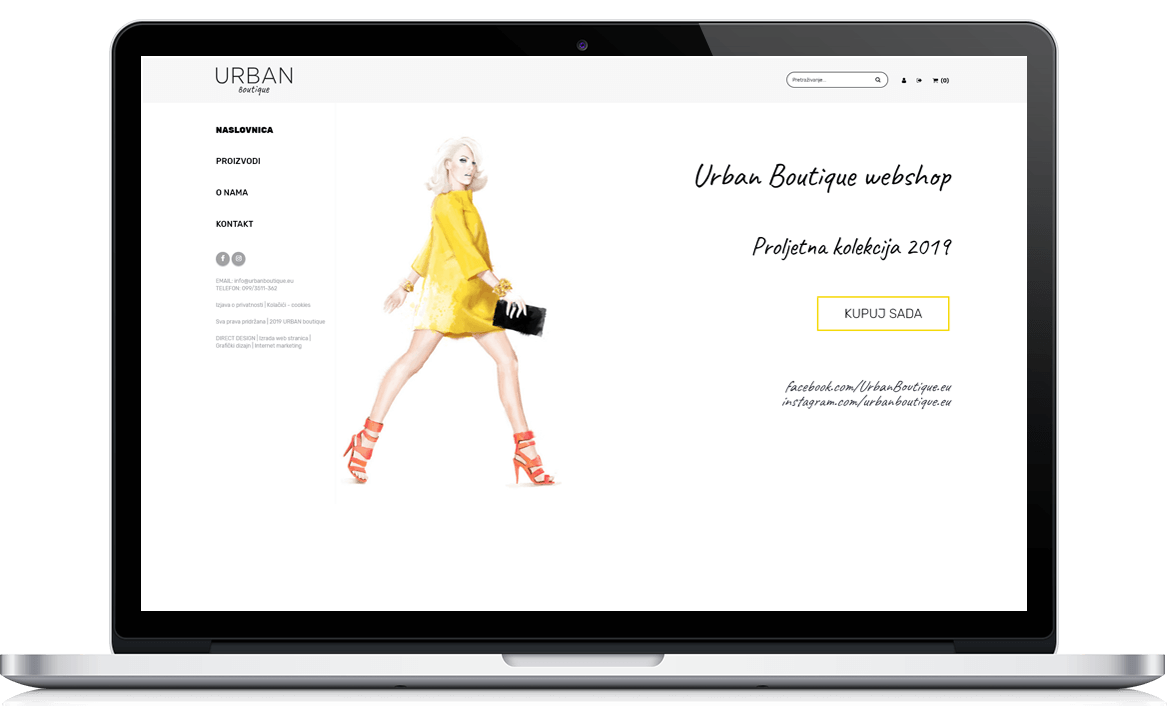 Urban Boutique webshop