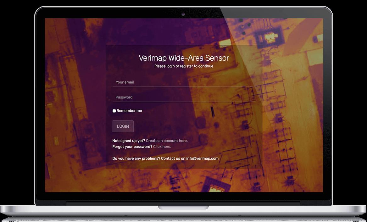 Verimap Landing page